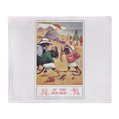 At the Seaside Throw Blanket