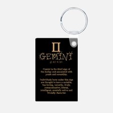 Gemini Aluminum Photo Keychain