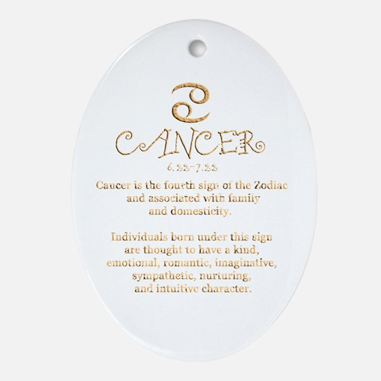 Cancer Ornament (Oval)