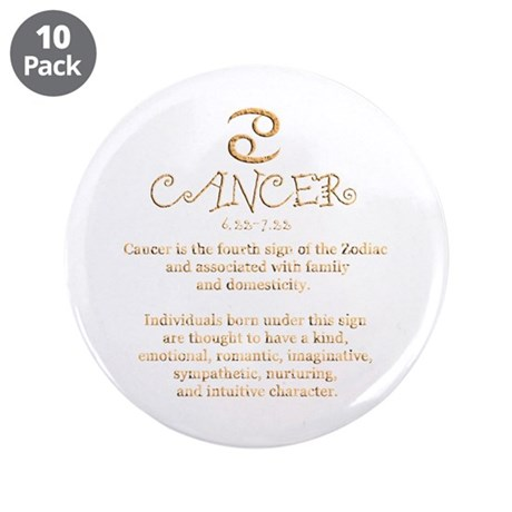 """Cancer 3.5"""" Button (10 pack)"""