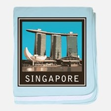 Singapore Marina Bay Sands baby blanket