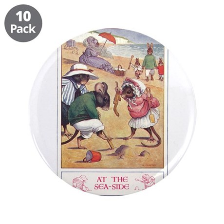 """At the Seaside 3.5"""" Button (10 pack)"""