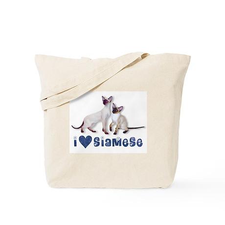 Tote Bag - I love Siamese