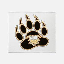 Jester Bear Paw Throw Blanket