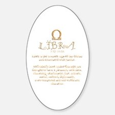 Libra Sticker (Oval)