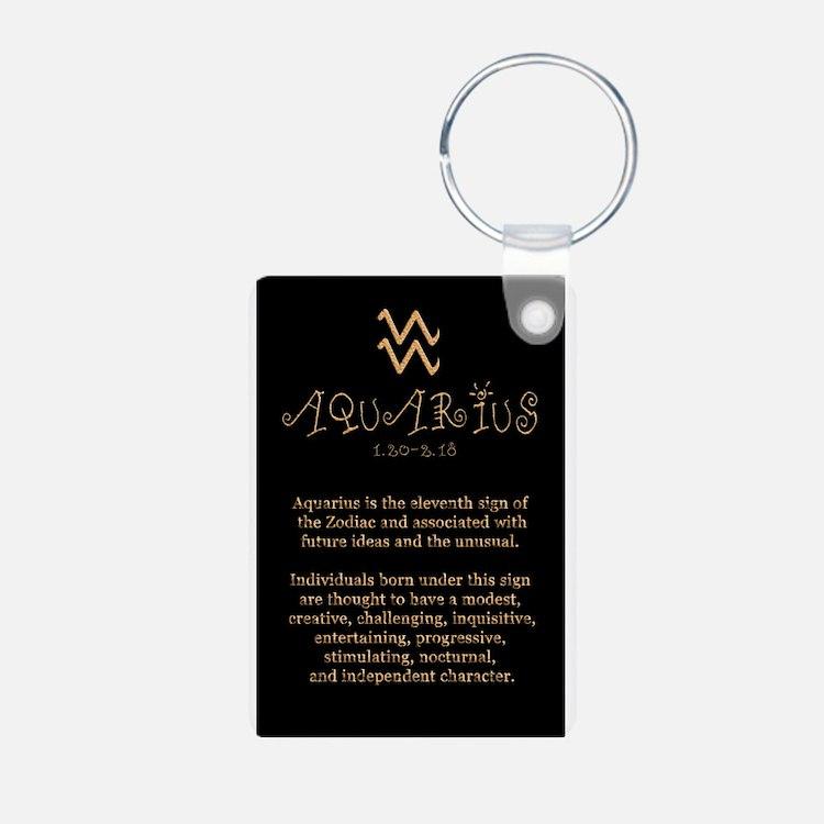 Aquarius Aluminum Photo Keychain