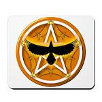Crow Pentacle - Yellow - Mousepad
