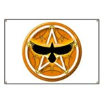 Crow Pentacle - Yellow - Banner