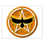 Crow Pentacle - Yellow - Small Poster