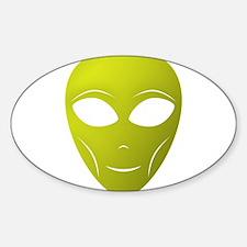 Happy Alien Sticker (Oval)