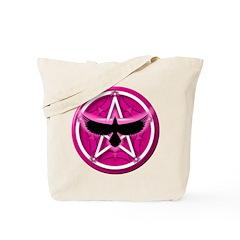Crow Pentacle - Pink - Tote Bag