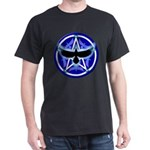 Crow Pentacle - Blue - Dark T-Shirt