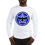 Crow Pentacle - Blue - Long Sleeve T-Shirt