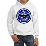 Crow Pentacle - Blue - Hooded Sweatshirt