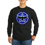 Crow Pentacle - Blue - Long Sleeve Dark T-Shirt