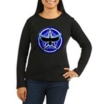 Crow Pentacle - Blue - Women's Long Sleeve Dark T-