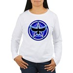 Crow Pentacle - Blue - Women's Long Sleeve T-Shirt