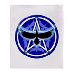 Crow Pentacle - Blue - Throw Blanket