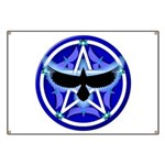 Crow Pentacle - Blue - Banner