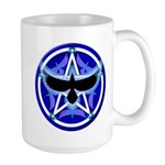 Crow Pentacle - Blue - Large Mug
