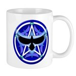 Crow Pentacle - Blue - Mug