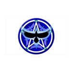Crow Pentacle - Blue - 38.5 x 24.5 Wall Peel