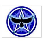 Crow Pentacle - Blue - Small Poster