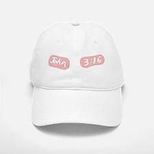 John 3 16 Eye Black Pink Baseball Baseball Cap