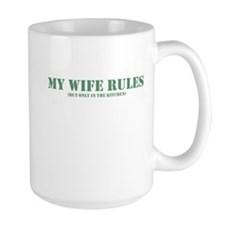 My wife rules the kitchen Mug