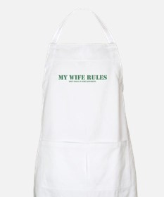 My wife rules the kitchen Apron