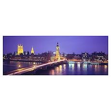 England, London, Parliament, Big Ben Poster