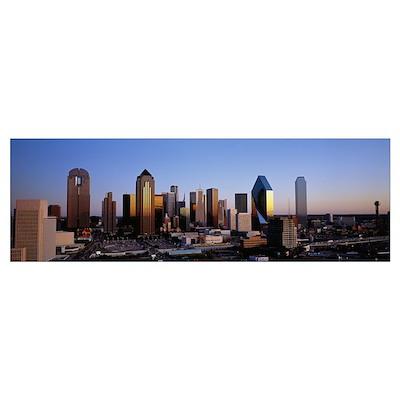 Texas, Dallas, sunrise Poster
