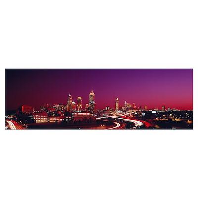 Georgia, Atlanta, night Poster