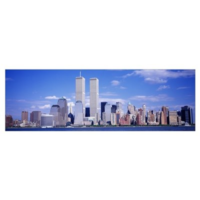 New York City, with World Trade Center Poster