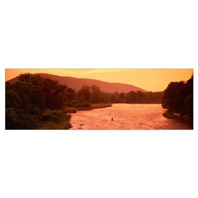 New York, Delaware County, fly fishing Poster