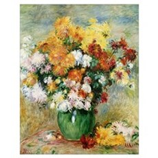 Bouquet of Chrysanthemums, c.1884 (oil on canvas) Poster