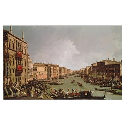 A Regatta on the Grand Canal, c.1735 (oil on canva Poster