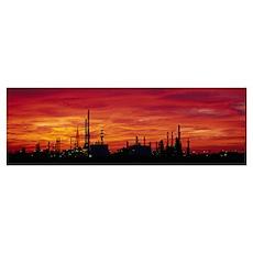 California, Bakersfield, oil refinery Poster