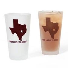 Most Likely To Secede (Maroon Drinking Glass