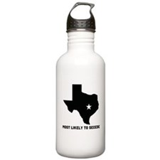 Most Likely To Secede (Black) Water Bottle