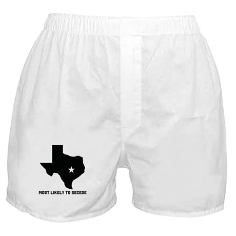 Most Likely To Secede (Black) Boxer Shorts