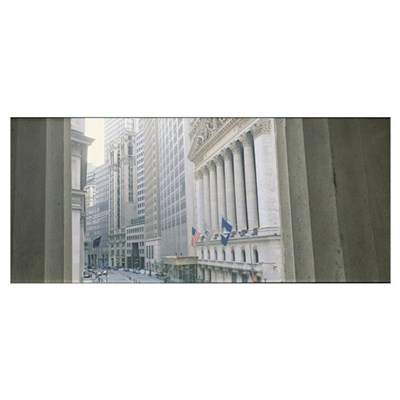 New York Stock Exchange Wall St New York NY Canvas Art