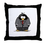 Executive penguin Throw Pillow