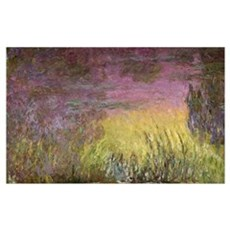 Waterlilies at Sunset, 1915 26 (oil on canvas) (de Framed Print