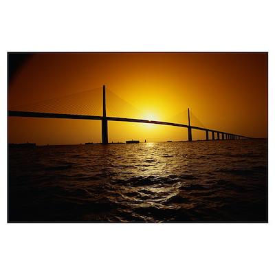Sunshine Bridge St Petersburg FL Poster
