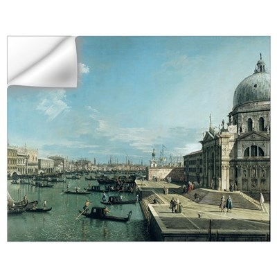 The Entrance to the Grand Canal and the church of Wall Decal