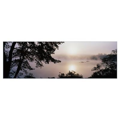 Fog Squam Lake NH Poster