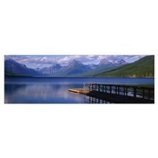 Pier Lake McDonald Glacier National Park MT Framed Print