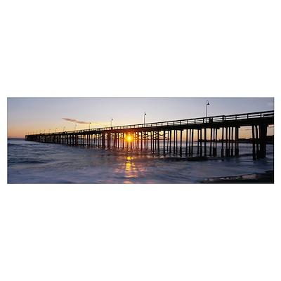 Ventura Pier at Sunset Poster