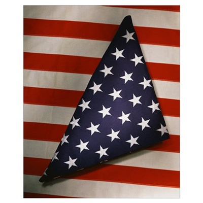 Folded American Flag Canvas Art